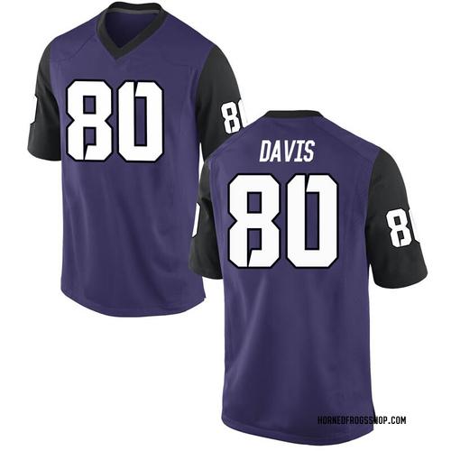 Men's Nike Al'Dontre Davis TCU Horned Frogs Game Purple Football College Jersey
