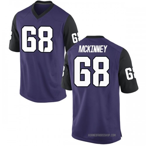 Men's Nike Anthony McKinney TCU Horned Frogs Game Purple Football College Jersey