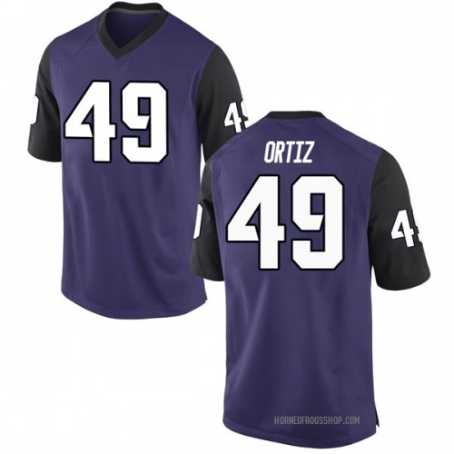 Men's Nike Antonio Ortiz TCU Horned Frogs Replica Purple Football College Jersey