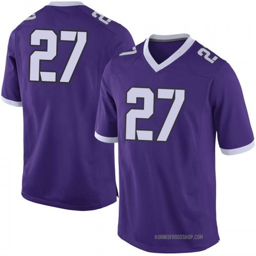 Men's Nike Ardarius Washington TCU Horned Frogs Limited Purple Football College Jersey