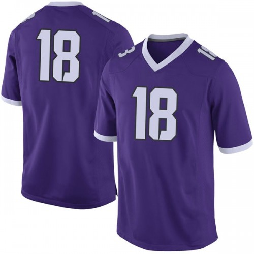 Men's Nike Ben Wilson TCU Horned Frogs Limited Purple Football College Jersey
