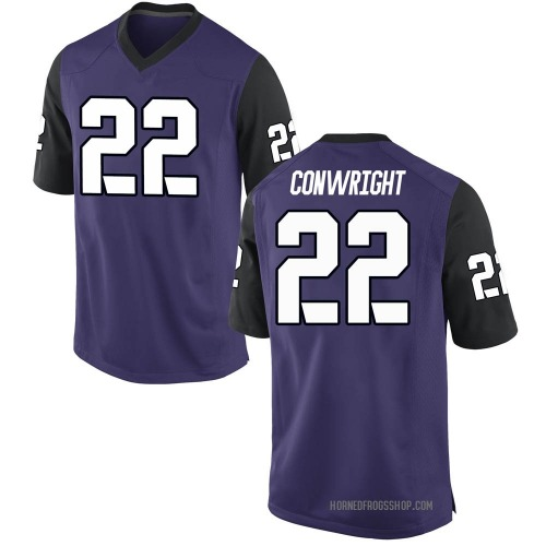 Men's Nike Blair Conwright TCU Horned Frogs Replica Purple Football College Jersey