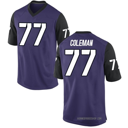 Men's Nike Brandon Coleman TCU Horned Frogs Game Purple Football College Jersey