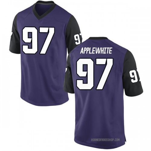 Men's Nike Christian Applewhite TCU Horned Frogs Game Purple Football College Jersey