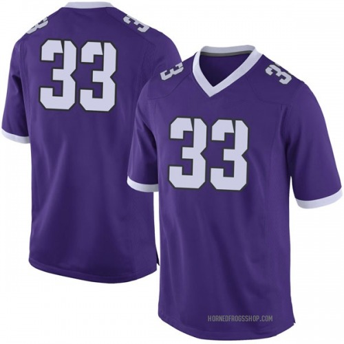 Men's Nike Clayton Crawford TCU Horned Frogs Limited Purple Football College Jersey