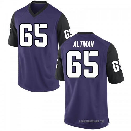 Men's Nike Colson Altman TCU Horned Frogs Game Purple Football College Jersey