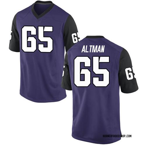 Men's Nike Colson Altman TCU Horned Frogs Replica Purple Football College Jersey