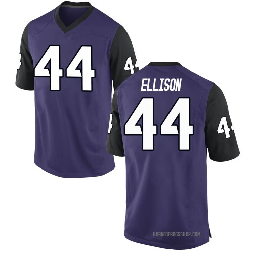 Men's Nike Colt Ellison TCU Horned Frogs Game Purple Football College Jersey