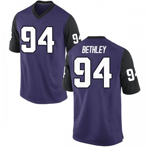 Men's Nike Corey Bethley TCU Horned Frogs Game Purple Football College Jersey