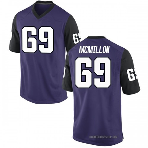Men's Nike Coy McMillon TCU Horned Frogs Replica Purple Football College Jersey