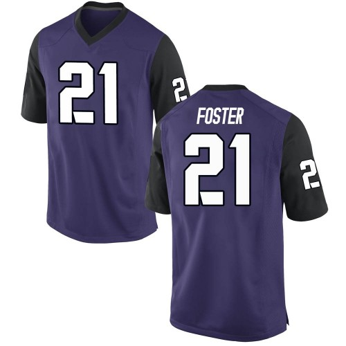Men's Nike Daimarqua Foster TCU Horned Frogs Game Purple Football College Jersey