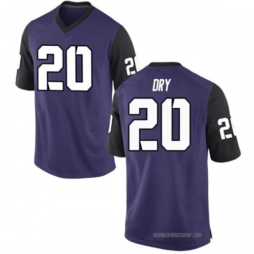 Men's Nike Dalton Dry TCU Horned Frogs Game Purple Football College Jersey