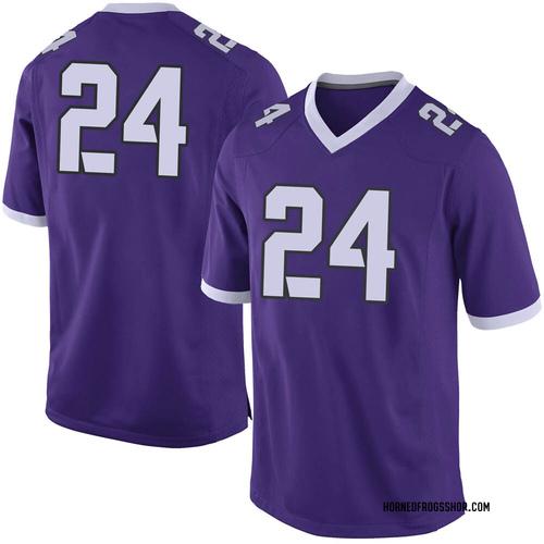 Men's Nike Darwin Barlow TCU Horned Frogs Limited Purple Football College Jersey