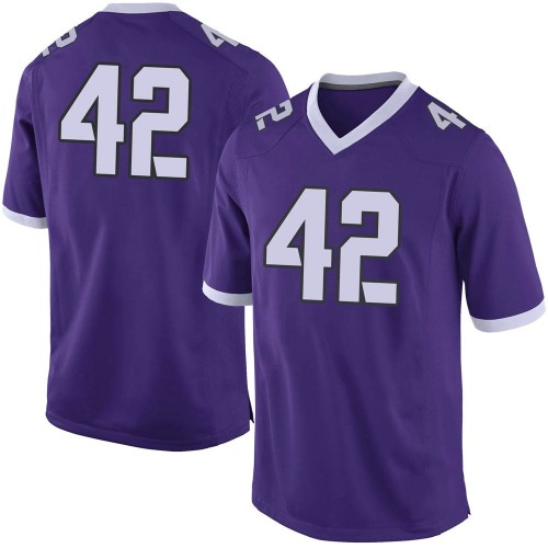 Men's Nike Dearan Roche TCU Horned Frogs Limited Purple Football College Jersey