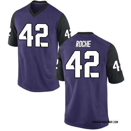 Men's Nike Dearan Roche TCU Horned Frogs Replica Purple Football College Jersey