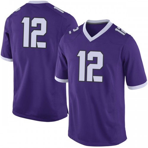 Men's Nike Derius Davis TCU Horned Frogs Limited Purple Football College Jersey