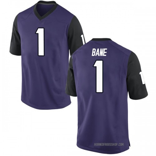 Men's Nike Desmond Bane TCU Horned Frogs Replica Purple Football College Jersey