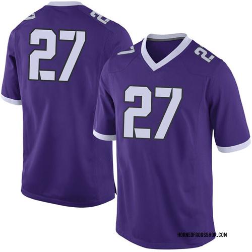 Men's Nike Devin Buckner TCU Horned Frogs Limited Purple Football College Jersey