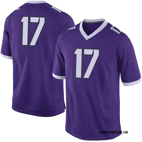 Men's Nike Dylan Horton TCU Horned Frogs Limited Purple Football College Jersey
