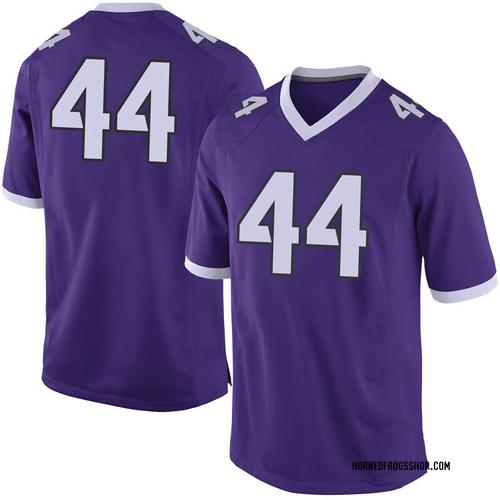 Men's Nike Ezra Tuua TCU Horned Frogs Limited Purple Football College Jersey