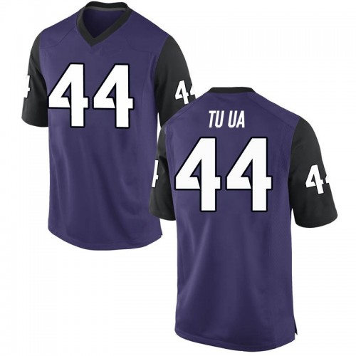 Men's Nike Ezra Tuua TCU Horned Frogs Replica Purple Football College Jersey