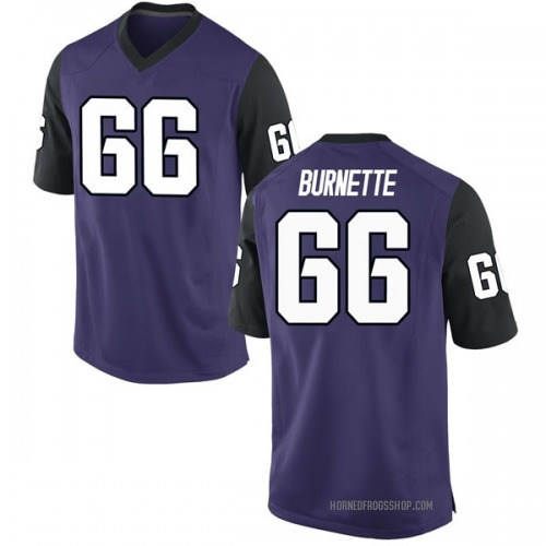 Men's Nike Ian Burnette TCU Horned Frogs Game Purple Football College Jersey
