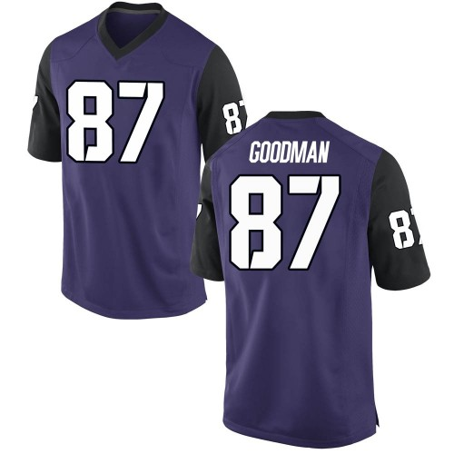 Men's Nike Jake Goodman TCU Horned Frogs Game Purple Football College Jersey