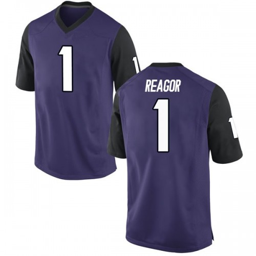 Men's Nike Jalen Reagor TCU Horned Frogs Replica Purple Football College Jersey