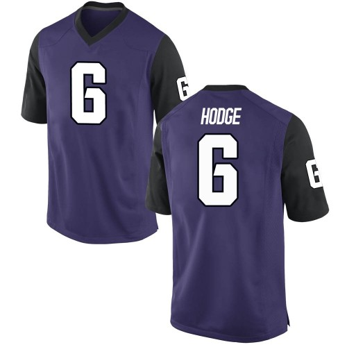 Men's Nike Jamoi Hodge TCU Horned Frogs Game Purple Football College Jersey
