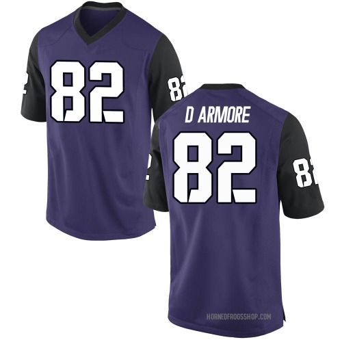 Men's Nike Jason D'Armore TCU Horned Frogs Game Purple Football College Jersey