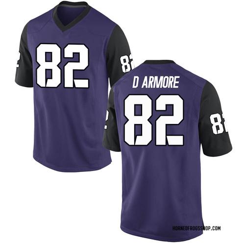 Men's Nike Jason Darmore TCU Horned Frogs Replica Purple Football College Jersey