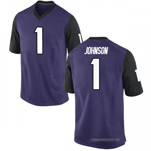 Men's Nike Jawuan Johnson TCU Horned Frogs Game Purple Football College Jersey