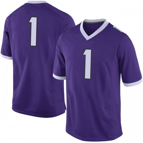 Men's Nike Jawuan Johnson TCU Horned Frogs Limited Purple Football College Jersey