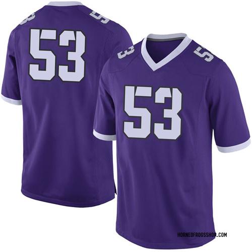 Men's Nike John Lanz TCU Horned Frogs Limited Purple Football College Jersey