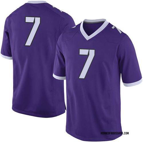 Men's Nike John Stephens Jr. TCU Horned Frogs Limited Purple Football College Jersey