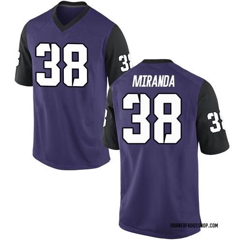 Men's Nike Jose Miranda TCU Horned Frogs Game Purple Football College Jersey