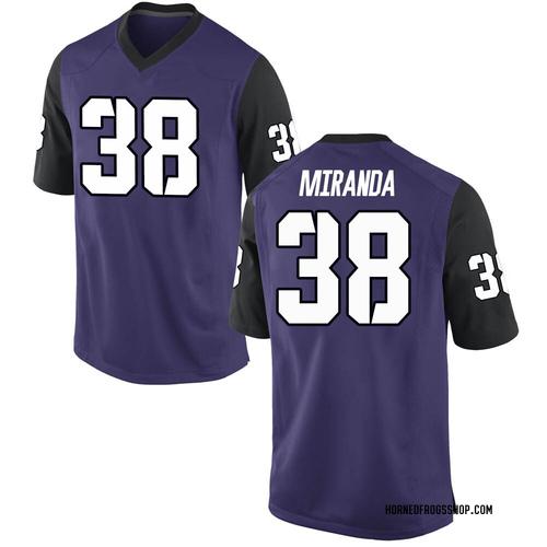 Men's Nike Jose Miranda TCU Horned Frogs Replica Purple Football College Jersey