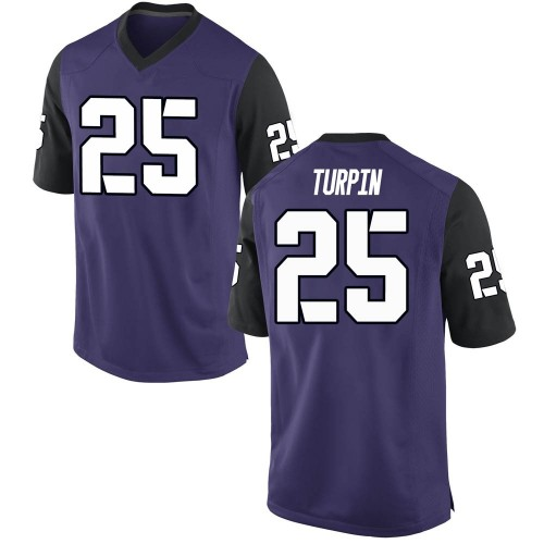 Men's Nike KaVontae Turpin TCU Horned Frogs Replica Purple Football College Jersey