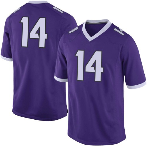 Men's Nike Karson Ringdahl TCU Horned Frogs Limited Purple Football College Jersey
