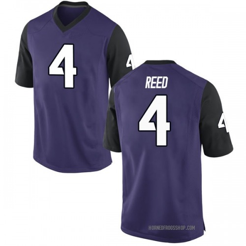 Men's Nike Keenan Reed TCU Horned Frogs Game Purple Football College Jersey