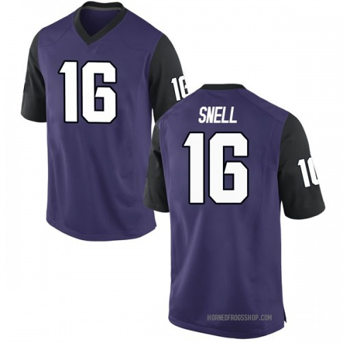 Men's Nike Kenedy Snell TCU Horned Frogs Game Purple Football College Jersey