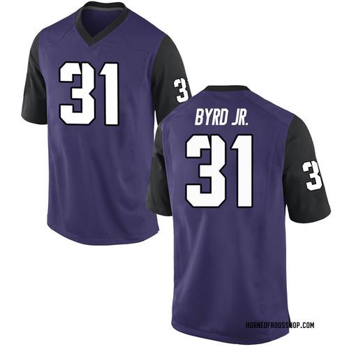 Men's Nike Michael Byrd Jr. TCU Horned Frogs Game Purple Football College Jersey