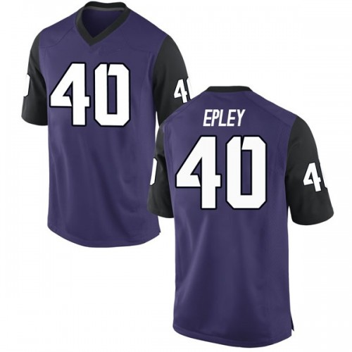 Men's Nike Michael Epley TCU Horned Frogs Replica Purple Football College Jersey
