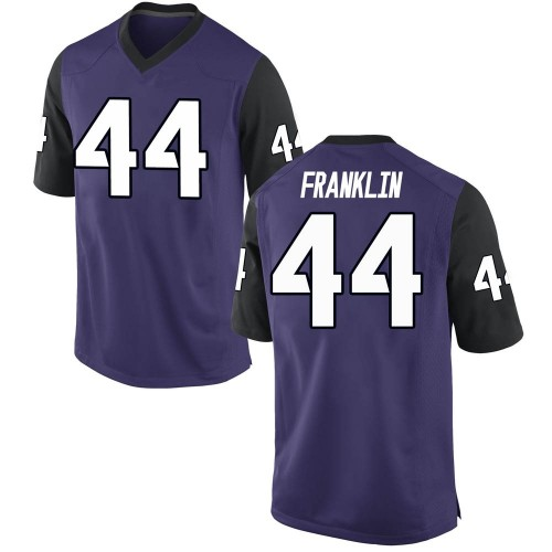 Men's Nike Michael Franklin TCU Horned Frogs Game Purple Football College Jersey