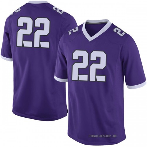 Men's Nike Michael Onyemaobi TCU Horned Frogs Limited Purple Football College Jersey