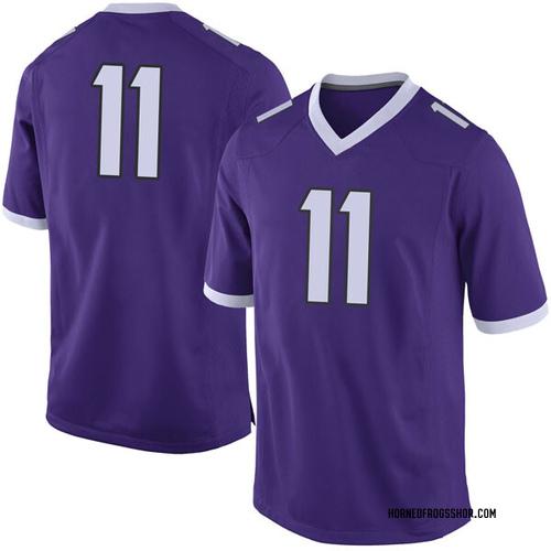 Men's Nike Montrel Wilson TCU Horned Frogs Limited Purple Football College Jersey