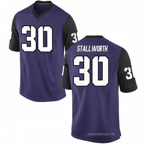 Men's Nike Omega Stallworth TCU Horned Frogs Game Purple Football College Jersey