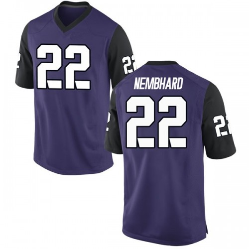 Men's Nike RJ Nembhard TCU Horned Frogs Game Purple Football College Jersey