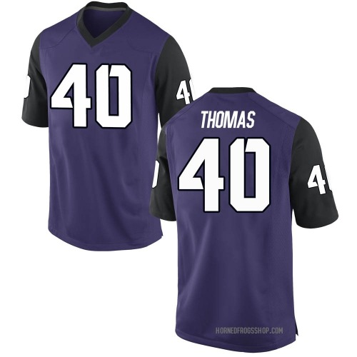 Men's Nike Ray Thomas TCU Horned Frogs Game Purple Football College Jersey
