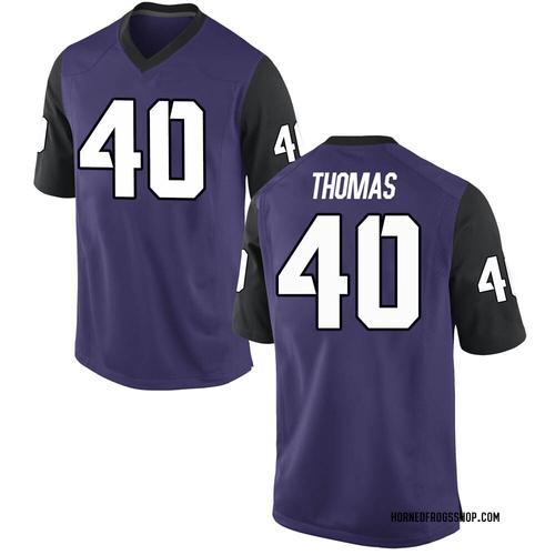 Men's Nike Ray Thomas TCU Horned Frogs Replica Purple Football College Jersey